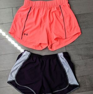 Bundle of 2 XS shorts under armour & C9